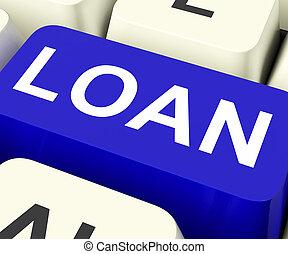 o, mezzi, chiave, prestito, prestare, prestito