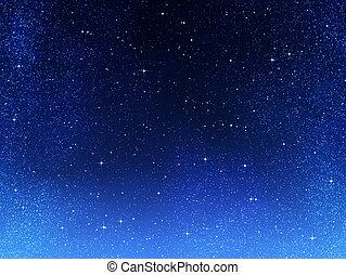 o, notte, spazio, cielo, stelle