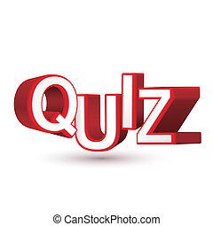 o, parola, conoscenza, valutazione, esame, quiz, competenza, misura, lettere, 3d, valutazione, tuo, rosso, illustrare