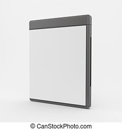 o, vettore, cd-case., vuoto, illustration., dvd-case, 3d