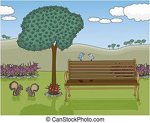 oasi, panchina