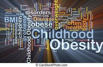 obesità, concetto, infanzia, fondo, ardendo
