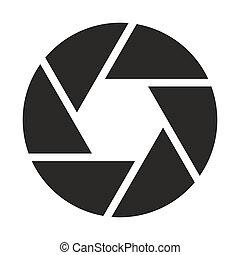obiettivo, macchina fotografica, (symbol), icona