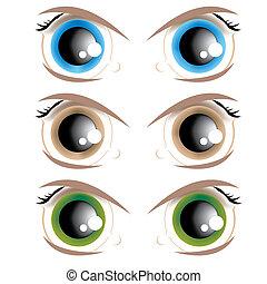 occhi, animato