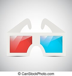 occhiali, 3d