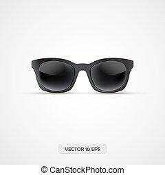 occhiali da sole, isolated., realistico, vettore, icon., 3d