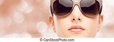 occhiali da sole, modello, moda, giovane