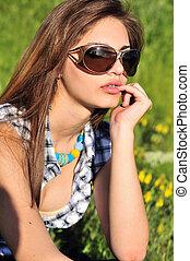 occhiali da sole, ragazza