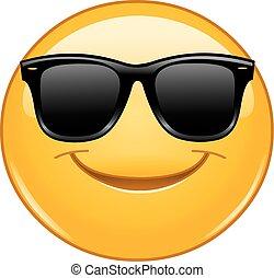 occhiali da sole, sorridente, emoticon
