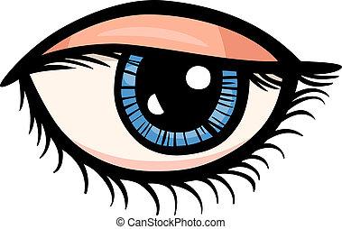 occhio, arte clip, cartone animato, illustrazione
