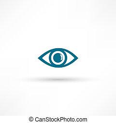 occhio blu, icona