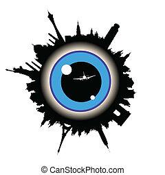 occhio, centro