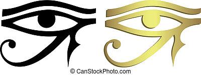 occhio nero, horus, oro