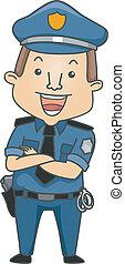 occupazione, poliziotto