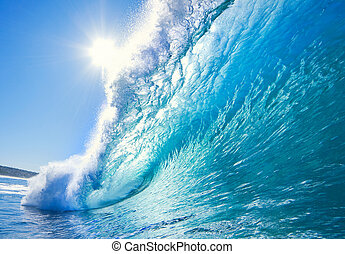oceano blu, onda