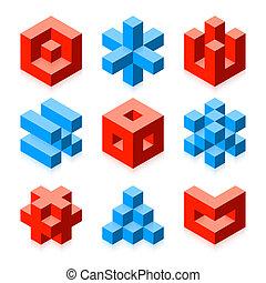 oggetti, cubico