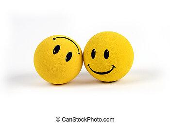 oggetti, -, giallo, faccina affronta