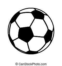 oggetto, palla football, icona
