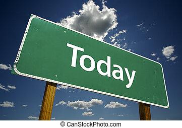 oggi, segno strada