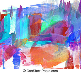 olio, astratto, sfocato, stain., freehand, painting., disegno