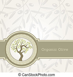 olio, sagoma, oliva, etichetta