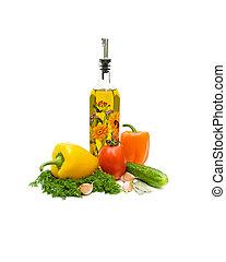 oliva, verdura, olio, bianco