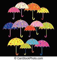 ombrello, colorito, fondo