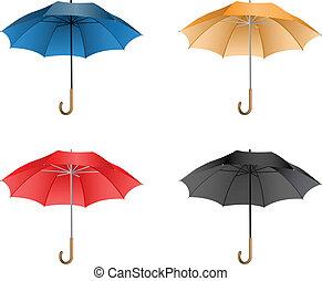 ombrello, illustrazione, vettore