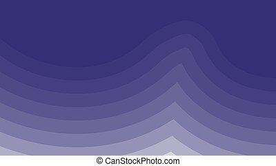 onda blu, disegno, scuro, acquarello