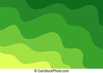 onda, fondo., estratto verde