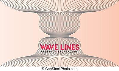 onda, onda, disegno, astratto, fondo, vettore, esplosione, radiazione, linea