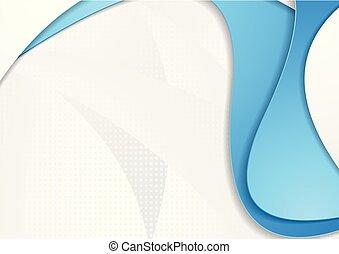 onde, grigio, sfondo blu, astratto, corporativo