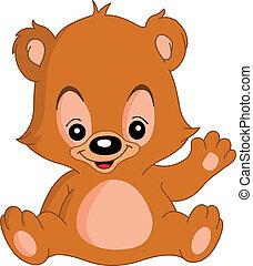 ondeggiare, orso, teddy