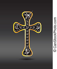 onice, cristiano, croce, oro