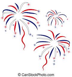 onore, firework, giorno, indipendenza