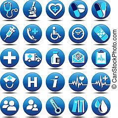 opaco, cura, salute, icone