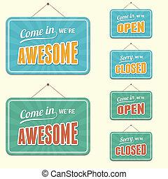 open/closed, segno