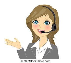 operatore telefonico, vettore