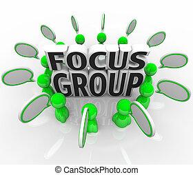 opinioni, gruppo, persone, marketing, discussione, fuoco, esame