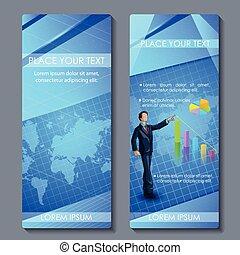 opuscolo, corporativo esecutivo, disegno, affari