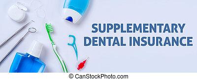 orale, -, assicurazione dentale, cura, prodotti, fondo, supplementare, luce