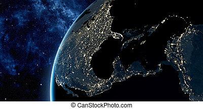orbitale, terra, vista, spazio