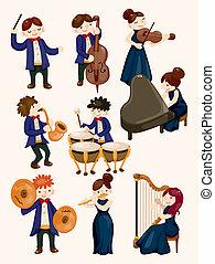orchestra, giocatore musica