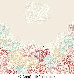 orchid., fiore, astratto, seamless, eleganza, fondo