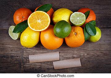 organico, spazio, text., cibo., legno, fondo, frutte