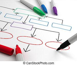 organizzazione, disegno, grafico