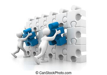 organizzazione, parte, importante, persone
