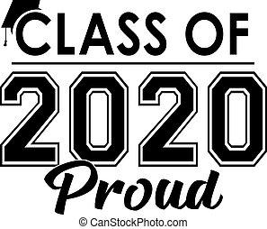 orgoglioso, classe, bandiera, 2020