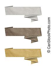origami, etichetta carta