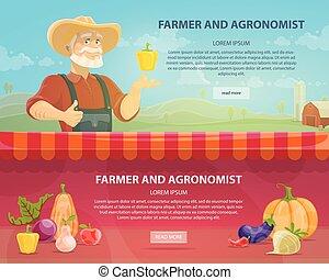orizzontale, agricoltura, bandiere, colorito